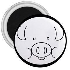 Pig Logo 3  Magnets by Simbadda