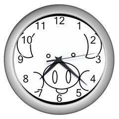 Pig Logo Wall Clocks (silver)  by Simbadda