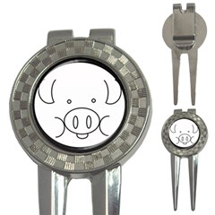 Pig Logo 3 In 1 Golf Divots by Simbadda