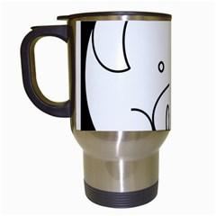 Pig Logo Travel Mugs (white) by Simbadda