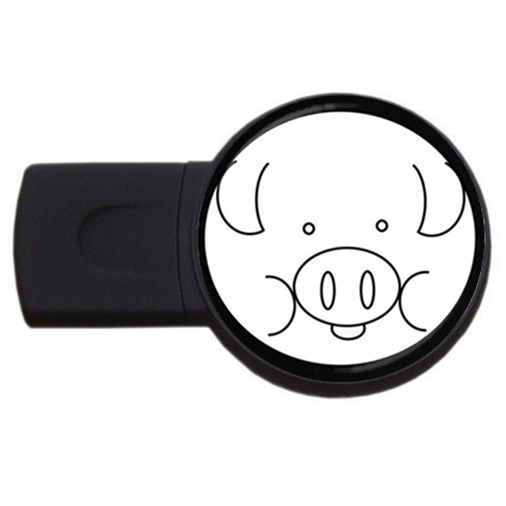 Pig Logo USB Flash Drive Round (4 GB)