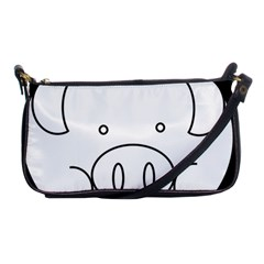 Pig Logo Shoulder Clutch Bags by Simbadda