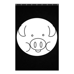 Pig Logo Shower Curtain 48  X 72  (small)  by Simbadda