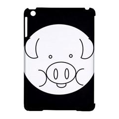 Pig Logo Apple Ipad Mini Hardshell Case (compatible With Smart Cover) by Simbadda
