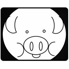 Pig Logo Double Sided Fleece Blanket (medium)  by Simbadda