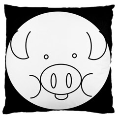 Pig Logo Standard Flano Cushion Case (two Sides) by Simbadda