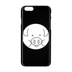 Pig Logo Apple Iphone 6/6s Black Enamel Case by Simbadda