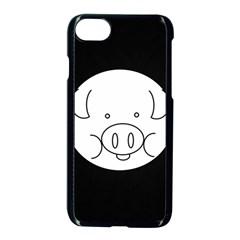 Pig Logo Apple Iphone 7 Seamless Case (black) by Simbadda