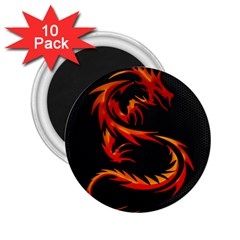 Dragon 2 25  Magnets (10 Pack)  by Simbadda