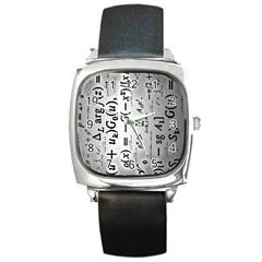 Science Formulas Square Metal Watch by Simbadda