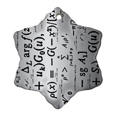 Science Formulas Ornament (snowflake)