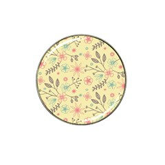 Seamless Spring Flowers Patterns Hat Clip Ball Marker by TastefulDesigns