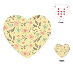 Seamless Spring Flowers Patterns Playing Cards (heart)  by TastefulDesigns