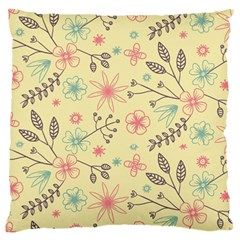Seamless Spring Flowers Patterns Large Cushion Case (two Sides) by TastefulDesigns