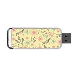 Seamless Spring Flowers Patterns Portable Usb Flash (two Sides) by TastefulDesigns
