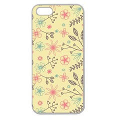 Seamless Spring Flowers Patterns Apple Seamless Iphone 5 Case (clear) by TastefulDesigns