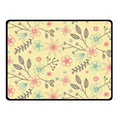 Seamless Spring Flowers Patterns Double Sided Fleece Blanket (small)  by TastefulDesigns