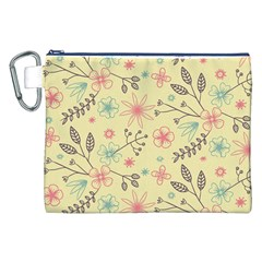 Seamless Spring Flowers Patterns Canvas Cosmetic Bag (xxl) by TastefulDesigns