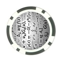 Science Formulas Poker Chip Card Guard by Simbadda
