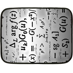 Science Formulas Double Sided Fleece Blanket (mini)  by Simbadda