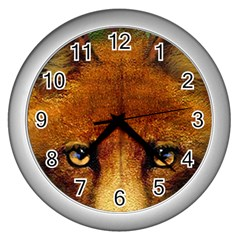 Fox Wall Clocks (silver)  by Simbadda