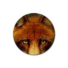 Fox Rubber Coaster (round)  by Simbadda