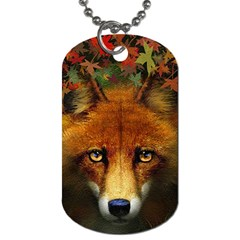 Fox Dog Tag (one Side) by Simbadda