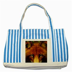 Fox Striped Blue Tote Bag by Simbadda