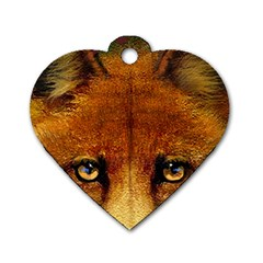 Fox Dog Tag Heart (one Side) by Simbadda