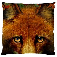 Fox Large Flano Cushion Case (two Sides) by Simbadda