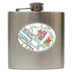 Paris Map Hip Flask (6 Oz) by Simbadda