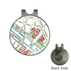 Paris Map Hat Clips With Golf Markers by Simbadda