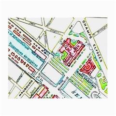 Paris Map Small Glasses Cloth by Simbadda