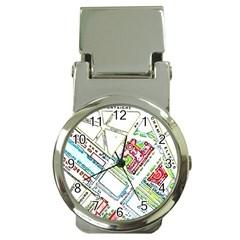 Paris Map Money Clip Watches by Simbadda