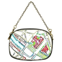 Paris Map Chain Purses (one Side)  by Simbadda