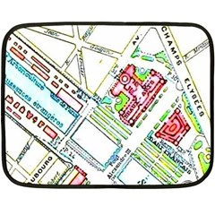 Paris Map Fleece Blanket (mini) by Simbadda