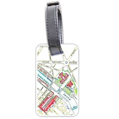 Paris Map Luggage Tags (one Side)  by Simbadda