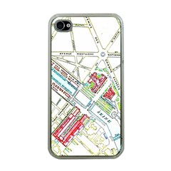 Paris Map Apple Iphone 4 Case (clear) by Simbadda
