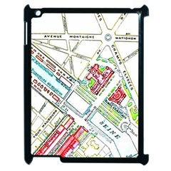Paris Map Apple Ipad 2 Case (black) by Simbadda
