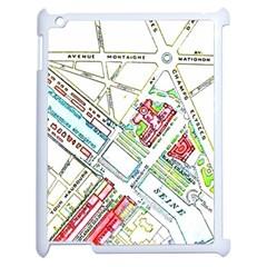 Paris Map Apple Ipad 2 Case (white) by Simbadda