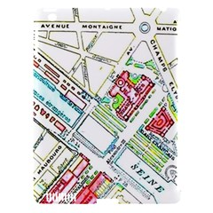 Paris Map Apple Ipad 3/4 Hardshell Case (compatible With Smart Cover) by Simbadda