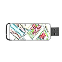 Paris Map Portable Usb Flash (two Sides) by Simbadda