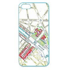 Paris Map Apple Seamless Iphone 5 Case (color) by Simbadda