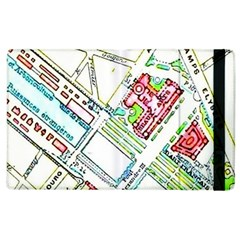 Paris Map Apple Ipad 2 Flip Case by Simbadda