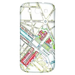 Paris Map Samsung Galaxy S3 S Iii Classic Hardshell Back Case by Simbadda