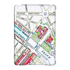 Paris Map Apple Ipad Mini Hardshell Case (compatible With Smart Cover) by Simbadda