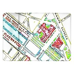 Paris Map Samsung Galaxy Tab 10.1  P7500 Flip Case by Simbadda