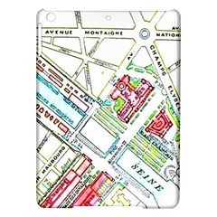 Paris Map Ipad Air Hardshell Cases by Simbadda