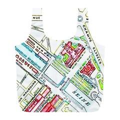 Paris Map Full Print Recycle Bags (l)  by Simbadda