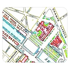 Paris Map Double Sided Flano Blanket (small)  by Simbadda